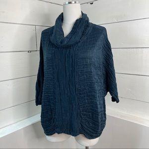 Grizas Linen and Silk Cowl Neck Top